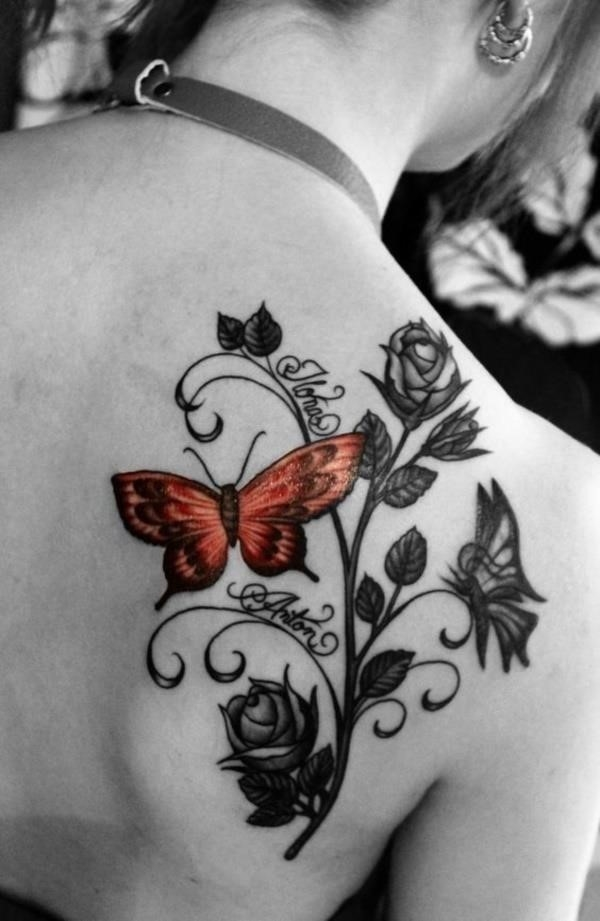 Adorable Ideas of tattoos with kids names0031