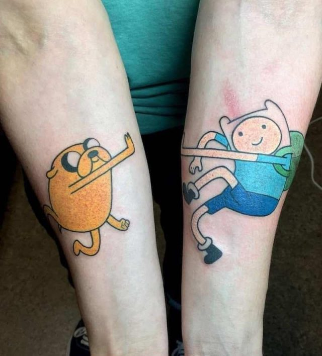 Adventure Time Tattoo 2 by Kimberly Wall