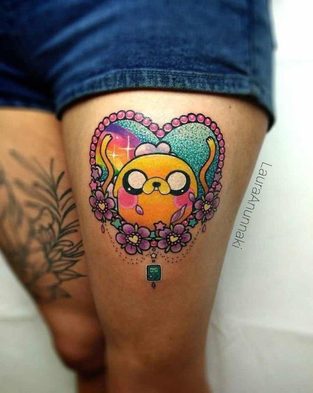 Adventure Time Tattoo by Laura Anunnaki