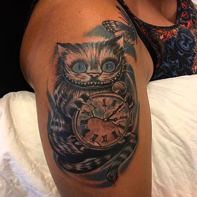 Alice in Wonderland Tattoo  16