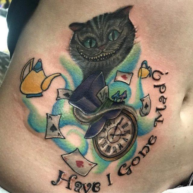 Alice in Wonderland Tattoo  29