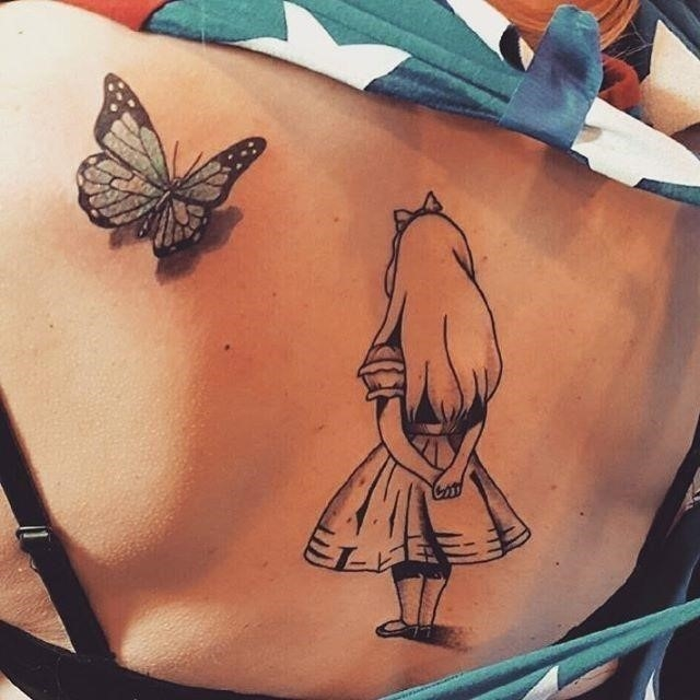 Alice in Wonderland Tattoo  6