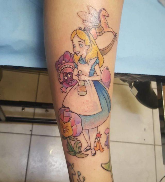 Alice in Wonderland Tattoo  8