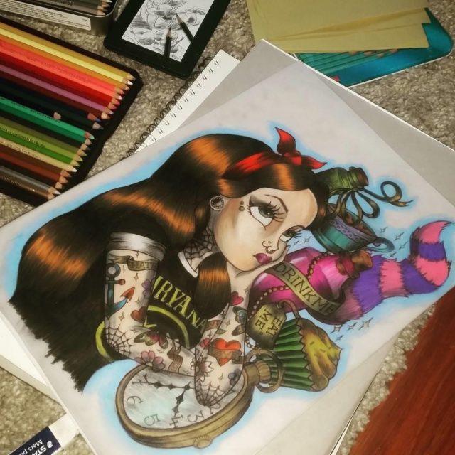 Alice in wonderland tattoos 18