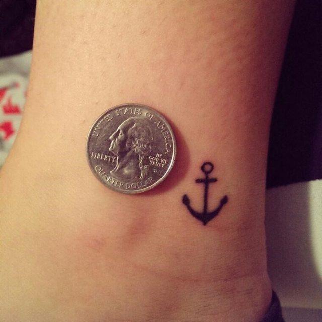 Anchor Black Simple Tattoo