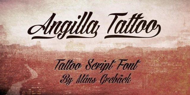 Angilla Vintage Tattoo Font