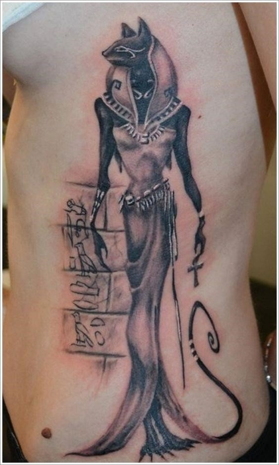 Anubis Bastet Egyptian Tattoo