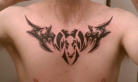 Aries Tribal Tattoos for Men