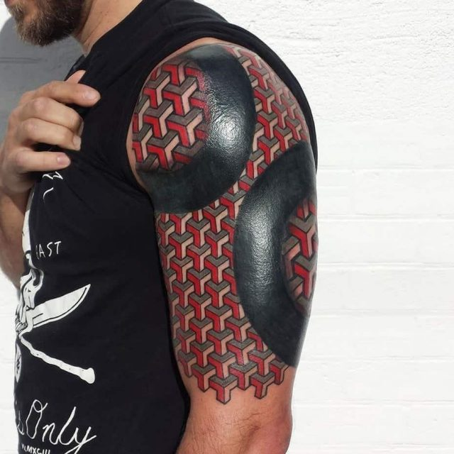 Armored Up 3D tattoo