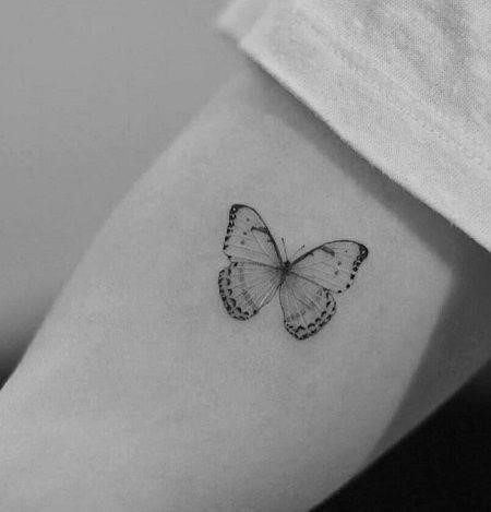 Ashley Tisdale Butterfly Tattoo