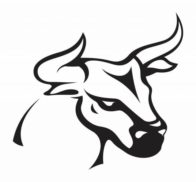 Attractive Bull Tattoo Design