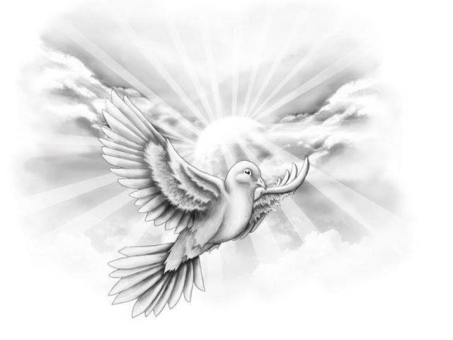 Awesome Flying Dove Tattoo Design