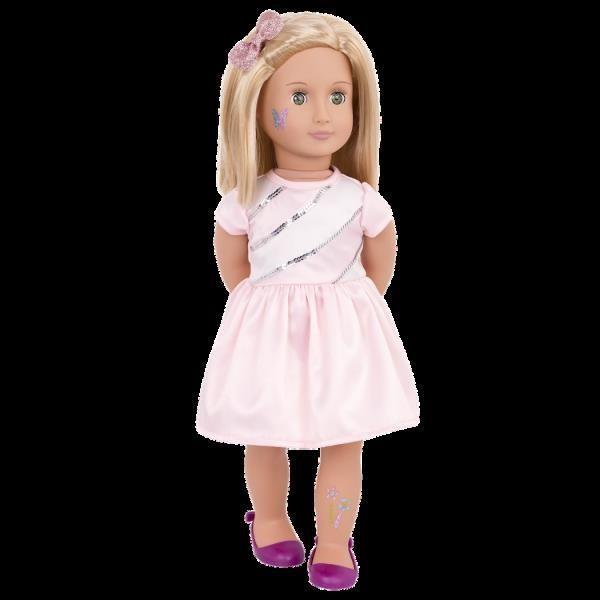 BD31178 Rosalyn Glitter Tattoo Doll standing02 600×600