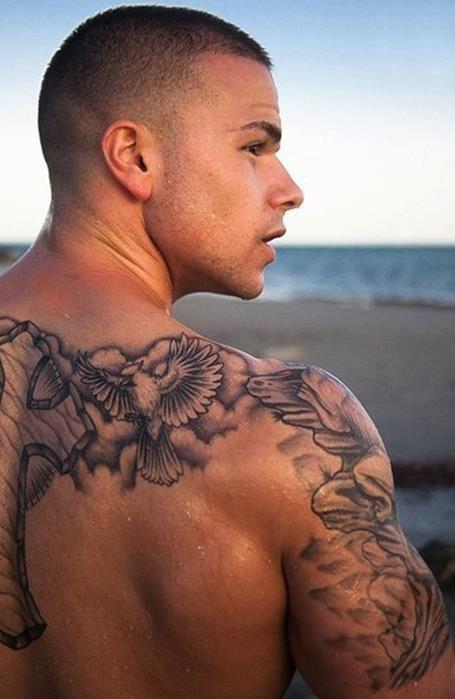 Back Shoulder Tattoo