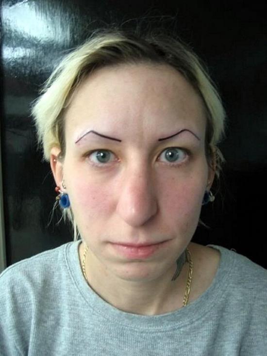 Bad Eyebrows Tattoo