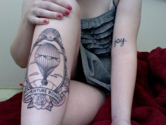 Balloon Adventure Tattoo