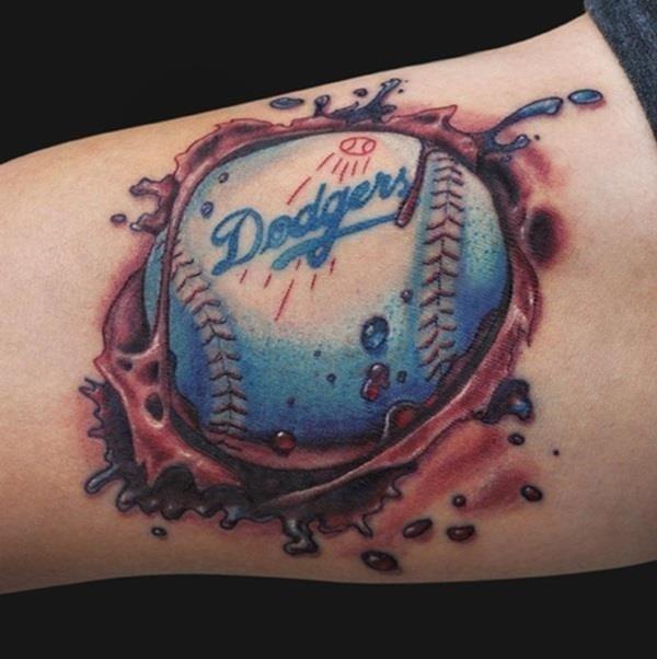 Baseball tattoo designs and ideas 34