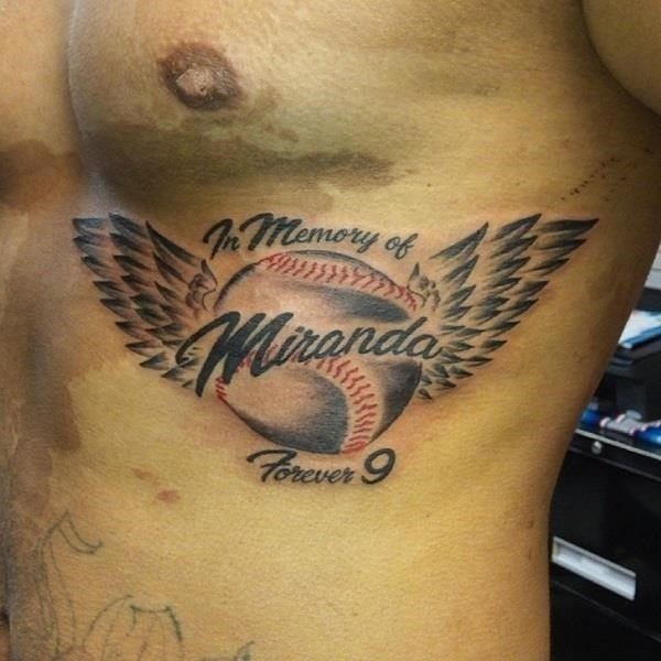 Baseball tattoo designs and ideas 9