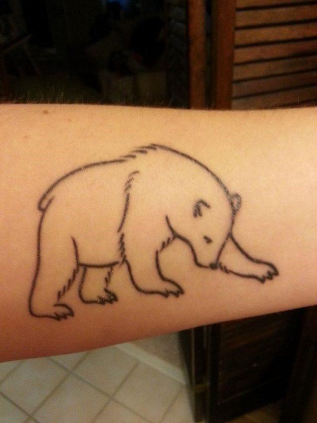 Bear Tattoo Simple