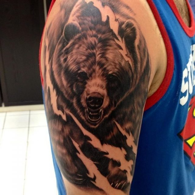 Bear Tattoos for Men