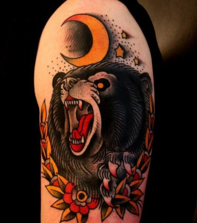 Bear tattoos  2