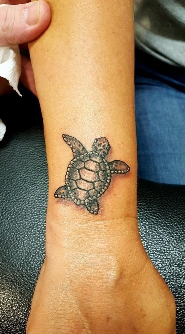 Beautiful Example Of Sea Turtle Tattoo With Their Meanings 19