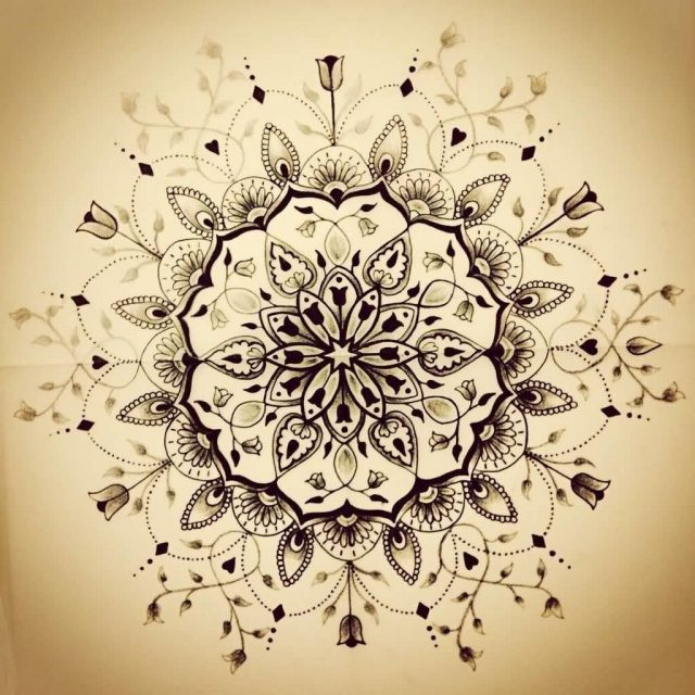 Beautiful Flower Mandala Tattoo Design By Jaigilchrist