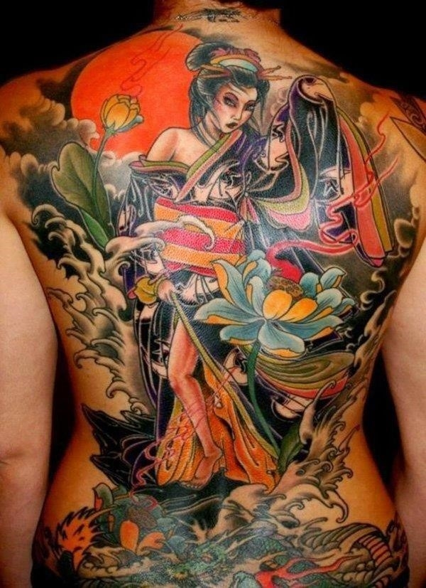 Beautiful geisha tattoos3