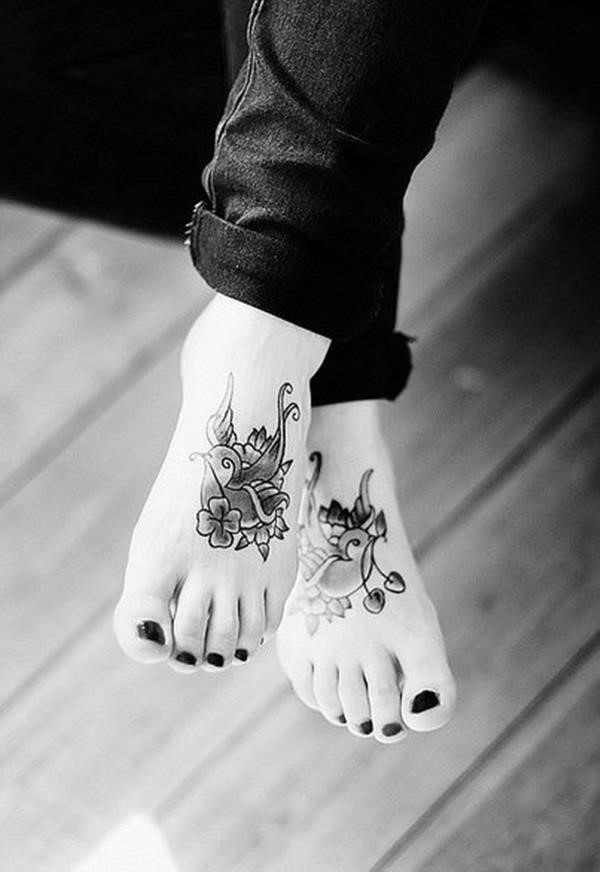 Best Foot Tattoo Designs and Ideas 25