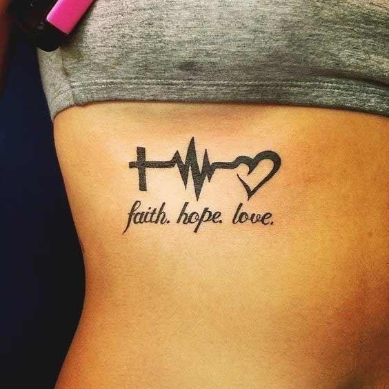 Best faith hope love tattoos designs ideas 22