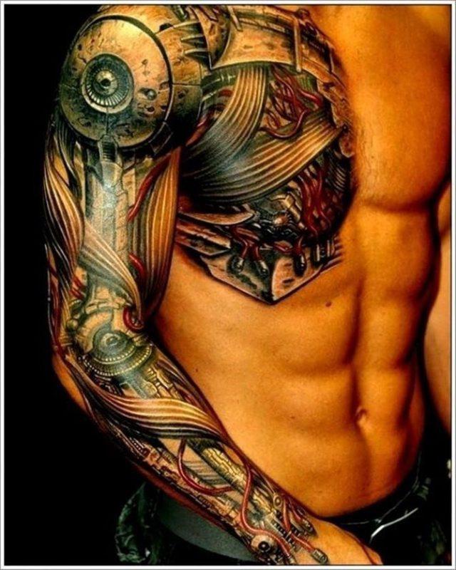 Bio mechanical Tattoo 1