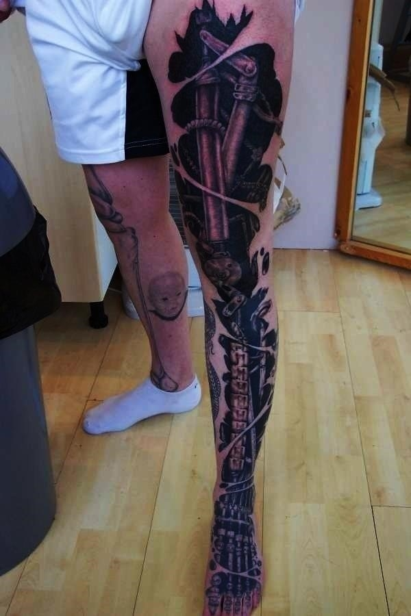 Bio mechanical Tattoo Designs Examples 5