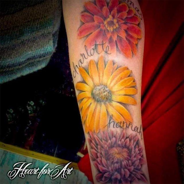 Birth flower name tattoo 10 4 13
