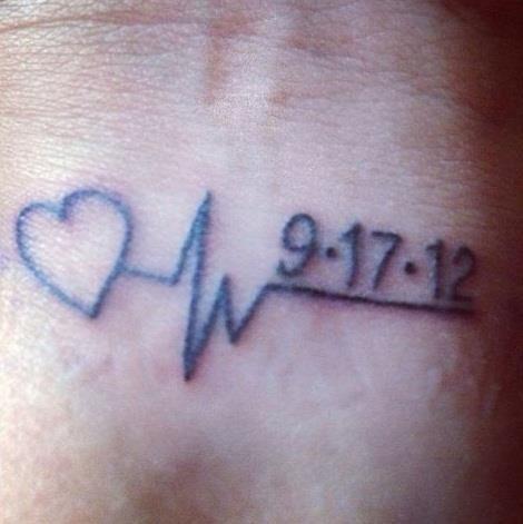 Birthdate Tattoo Ideas