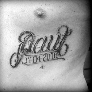 Birthdate Tattoos for Men 300×300