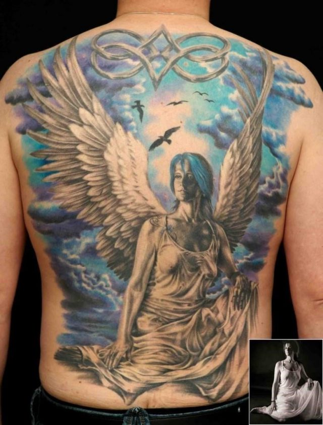 Blue Angel Tattoo 779×1024