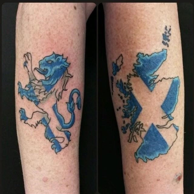 Blue Scottish Tattoo Design