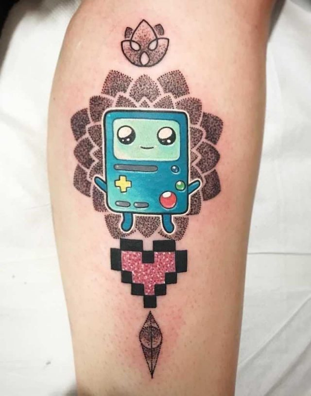 Bmo Adventure Time Tattoo by Chris Hill