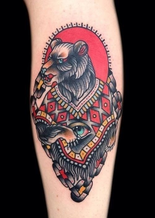 Bright Bear Tattoo