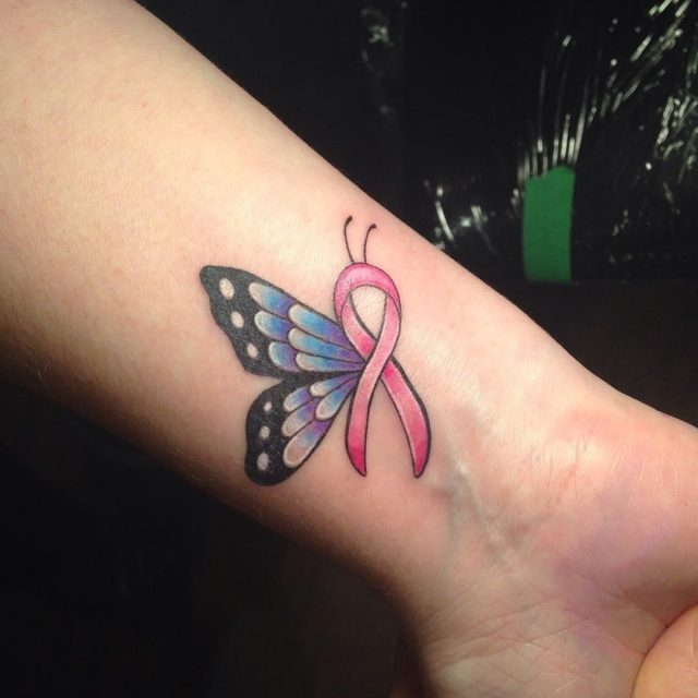 Cancer Ribbon Tattoo  2