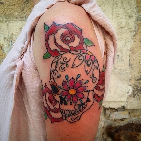 Candy Skull Tattoo Images