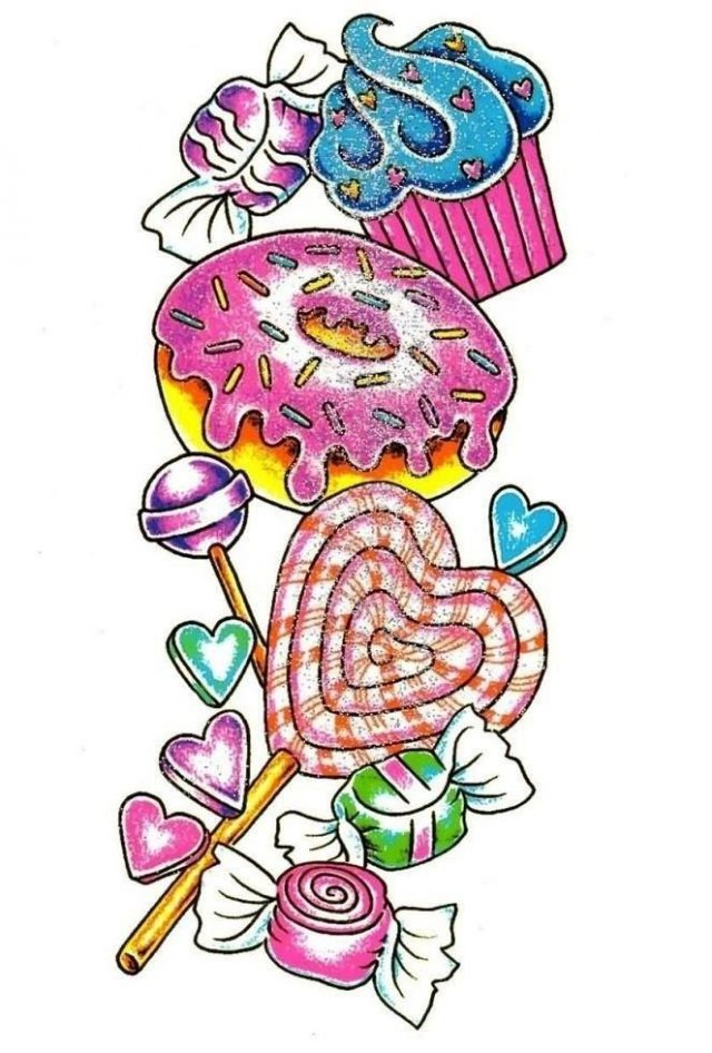 Candy Tattoo Drawings