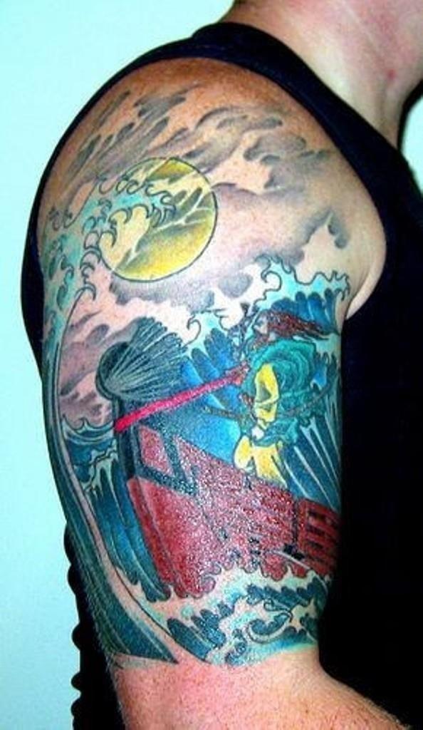 Cartoon Viking Tattoo Design st6119