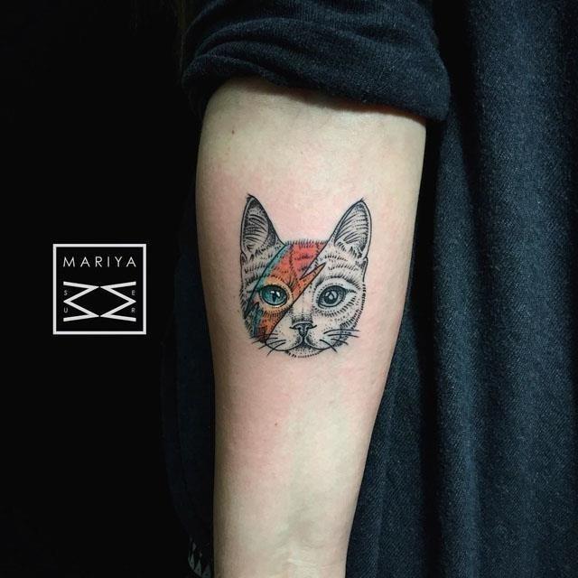 Cat Tattoo Portrait by Sasha Tattooing