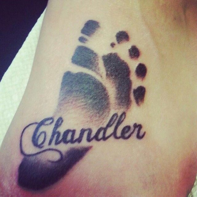 Chandler Baby Footprint Tattoo