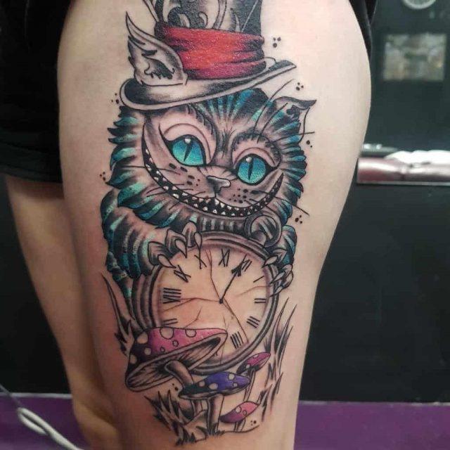 Cheshire cat tattoo images alice in wonderland justinundertheguntattoo