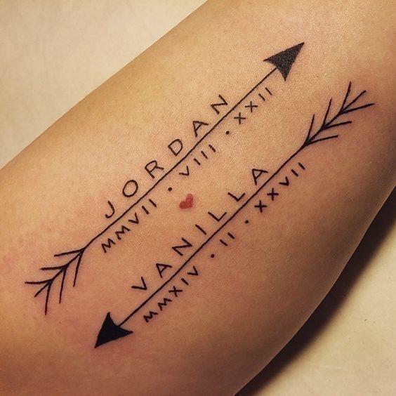 Childrens name tattoos