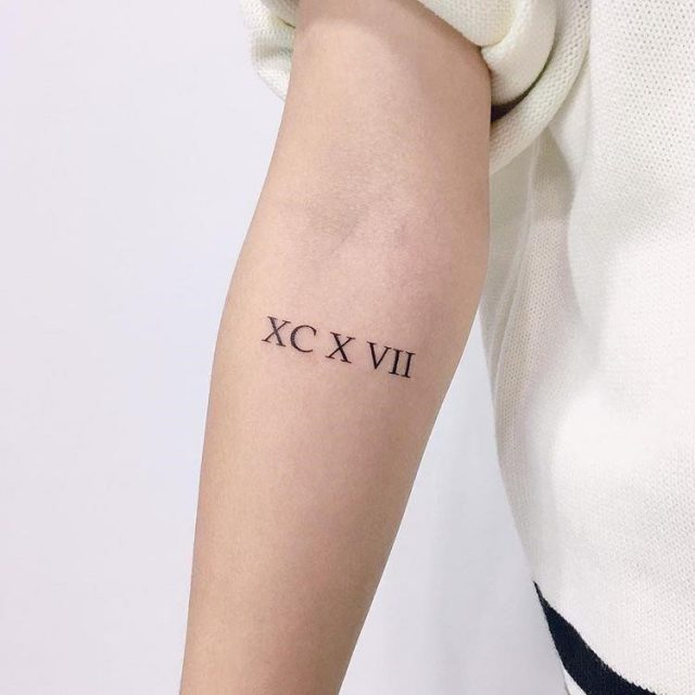 Classical Roman Numeral Tattoos 1