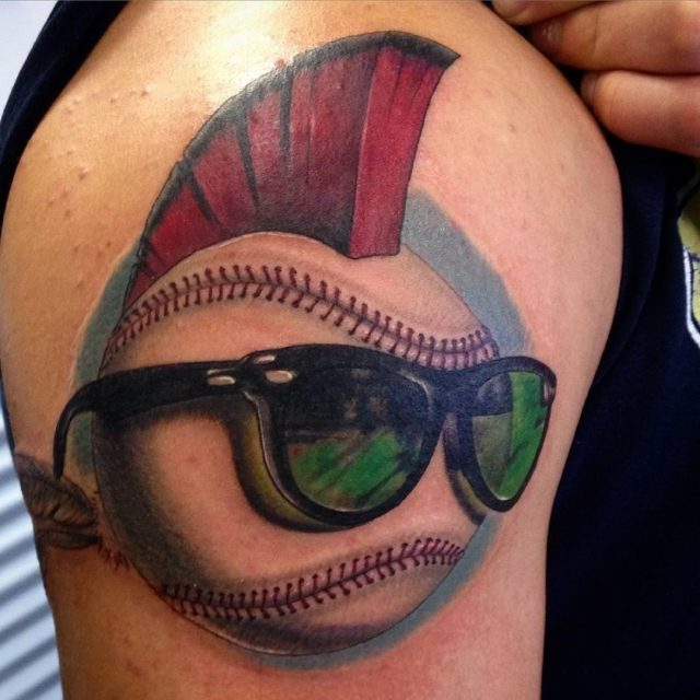Colorful Baseball Tattoo1