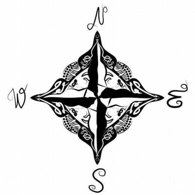 Compass Tattoo 8
